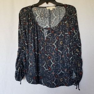 LOVESTITCH FLORAL BOHO BLOUSE TOP SIZE SMALL